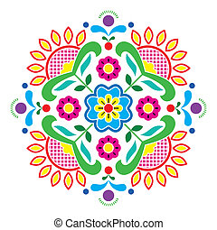 Norwegian traditional folk art - Vector colorful background...