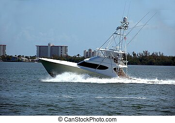 sport fishing boat photographed on the east coast of...