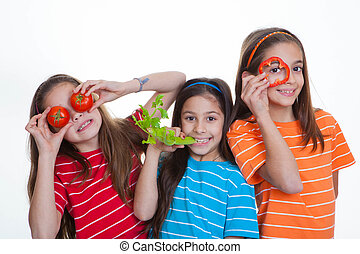 children eating healthy food -  children eating healthy diet