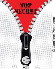 Top secret background with zipper - Top secret background...
