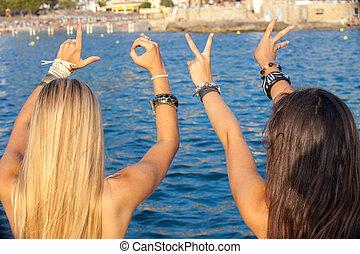 adolescentes, Amor, verão, férias