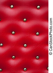 Luxury leather upholstry in red