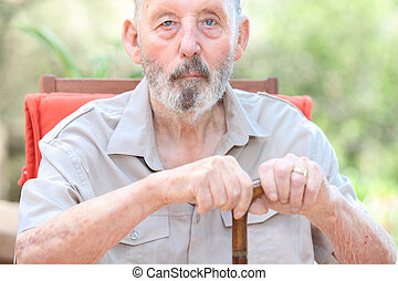healthy senior in care home, old man