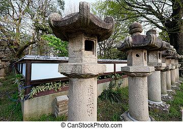 Stone lantern in Japan