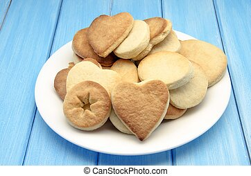 Butter cookies with heart shaped