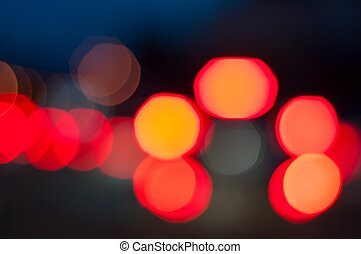 Road Lights - bokeh lights from cars stoplight at night.