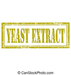 Yeast Extract-stamp - Grunge rubber stamp with text Yeast...