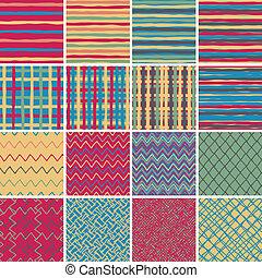 Textile seamless pattern SET No.2