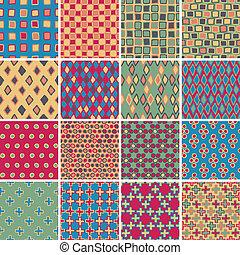 Textile seamless pattern SET No.3