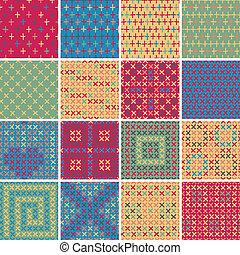 Textile seamless pattern SET No.5