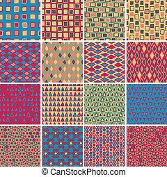 Textile seamless pattern SET No.7