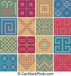 Textile seamless pattern SET No.8