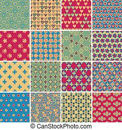 Textile seamless pattern SET No.9
