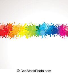 Farbverlauf aus Klecksen