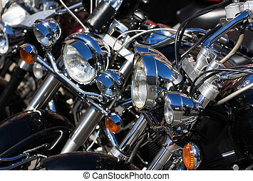 Motorcycles - Closeup of motorcycle on the bike show
