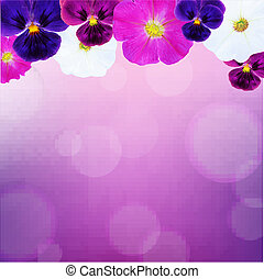 Flower Card With Bokeh, With Gradient Mesh, Vector...