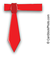 Dads Red Tie - A red fathers day tie set on a white blue...
