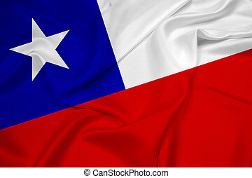 Waving Chile Flag