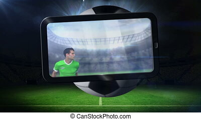 World cup animation on tablet