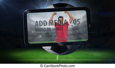 World cup animation on tablet - World cup animation with...