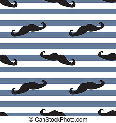 Mustache vector tile background - Seamless mustache vector...