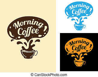 Morning coffee icon