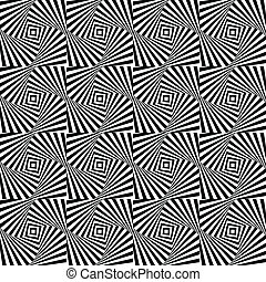 Optical illusion, seamless pattern eps 10 - Optical...