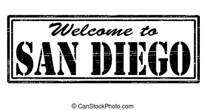 Welcome to San Diego - Stamp with text welcome to San Diego...