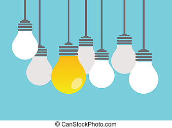 Bright idea - Set of light bulbs