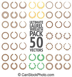 Ultimate Laurel Wreath Pack 50 Vectors