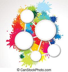 Hintergrund mit Farbklecksen und Textfreiraum