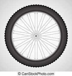 bike wheel - colorful illustration with bike wheell on a...