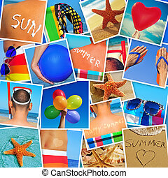 pictures of different summer scenes shot by myself - mosaic...
