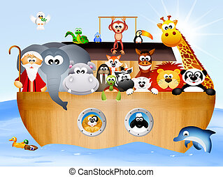 Noah's ark - illustration of Noah's ark