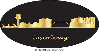 luxembourg skyline with airport and