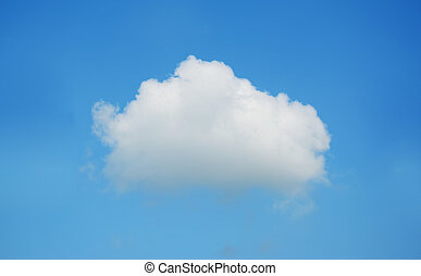 white, fluffy cloud - fluffy cloud in the blue sky