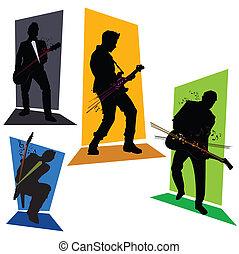 4 gitar players set