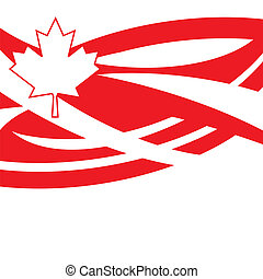 Happy Canada Day - An abstract illustration on Happy Canada...
