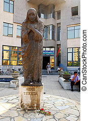 Mother Teresa monument in Shkoder, Albania - SHKODER,...