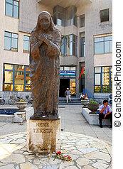 Mother Teresa monument in Shkoder, Albania - SHKODER,...