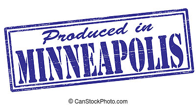 Produced in Minneapolis - Stamp with text produced in...