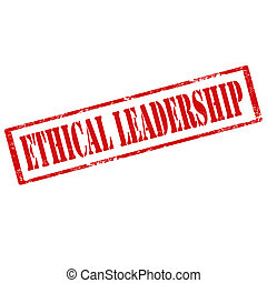 Ethical Leadership-stamp - Grunge rubber stamp with text...