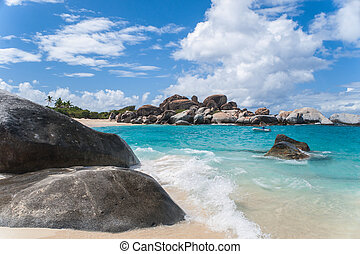 "Virgin Gorda ""The Bath"" - look at the beaches of ""The Bath"",..."