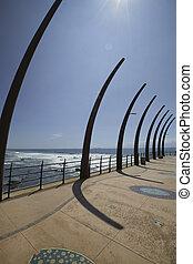 Umhlanga Rocks Pier - Beach side view from pier at Umhlanga...