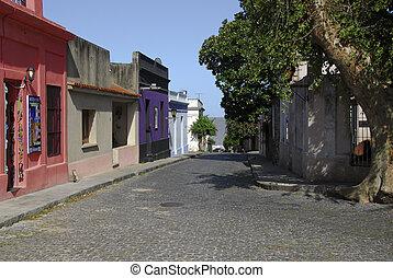Colonia del Sacramento - A street view of Colonia del...