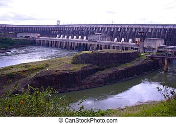 Brazils Itaipu Dam, Close-Up - Close-up of Brazils Itaipu...