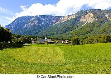 Picturesque Village In Julian Alps