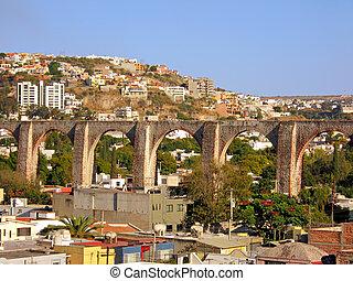 The Los Arcos (aqueduct) of Queretaro, Mexico. - The Los...