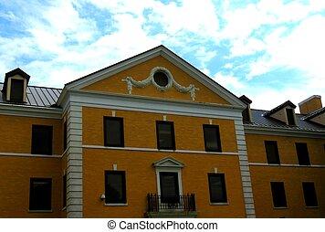 Architectural details - Details of a 1800s brick building