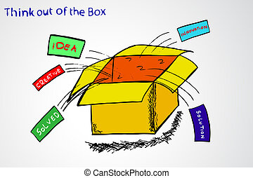 Think out of the Box - Illustration for Think out of the Box...
